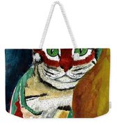 Cat Around Corner Weekender Tote Bag