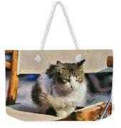 Cat On Chair Weekender Tote Bag