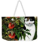 Cat On The Patio Weekender Tote Bag