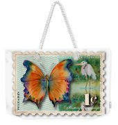 1 Cent Butterfly Stamp Weekender Tote Bag