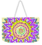 Chakra Energy  Mandala Ancient Healing Meditation Tool Stained Glass Pixels  Live Spinning Wheel  Weekender Tote Bag