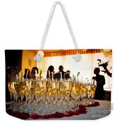 Champagne Glasses At The Party Weekender Tote Bag