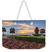 Charleston Sc Waterfront Pineapple Fountain Weekender Tote Bag