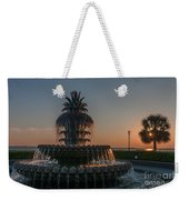 Pineapple Fountain Charleston Sc Sunrise Weekender Tote Bag