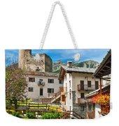 Chatelard Village With Castle Weekender Tote Bag
