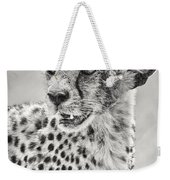 Cheetah Weekender Tote Bag by Adam Romanowicz