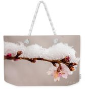 Cherryblossom With Snow Weekender Tote Bag