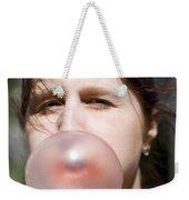 Chewing Gum Lady Weekender Tote Bag