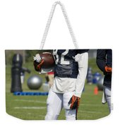 Chicago Bears Wr Chris Williams Training Camp 2014 01b Bw Weekender Tote Bag