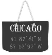 Chicago Coordinates Weekender Tote Bag