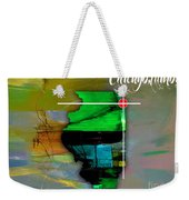 Chicago Illinois Map Watercolor Weekender Tote Bag
