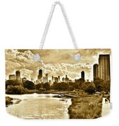 Chicago In Sepia Weekender Tote Bag