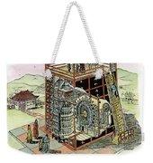 Chinese Astronomical Clocktower Built Weekender Tote Bag