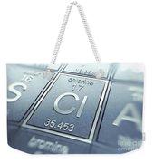 Chlorine Chemical Element Weekender Tote Bag