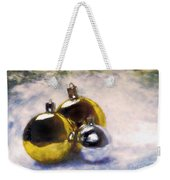 Christmas Balls Artistic Vintage Painting Weekender Tote Bag