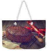 Christmas Cake Weekender Tote Bag