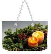 Christmas Candles Weekender Tote Bag
