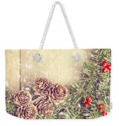 Christmas Garland Weekender Tote Bag by Amanda Elwell
