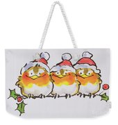 Christmas Robins  Weekender Tote Bag