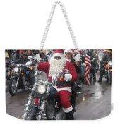 Christmas Toys For Tots Santa On Motorcycle Casa Grande Arizona 2004 Weekender Tote Bag