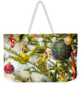 Christmas Tree Ornaments And Decorations Weekender Tote Bag