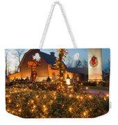 Christmas Village Decorations Weekender Tote Bag
