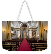 Church Of Santa Barbara Interior In Madrid Weekender Tote Bag