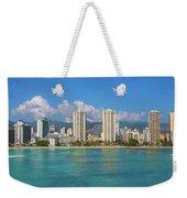 City At The Waterfront, Waikiki Weekender Tote Bag