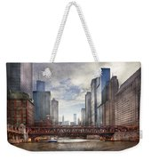 City - Chicago Il - Looking Toward The Future Weekender Tote Bag