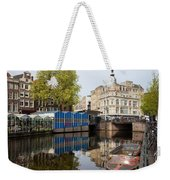 City Of Amsterdam Cityscape Weekender Tote Bag