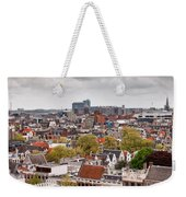 City Of Amsterdam From Above Weekender Tote Bag