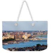 City Of Budapest At Sunset Weekender Tote Bag