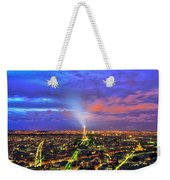City Of Lights Weekender Tote Bag