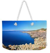 cliff in San Pietro Island Weekender Tote Bag