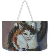Clockwork Cat Weekender Tote Bag