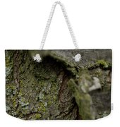 Closeup Of Bark Covered In Lichen Weekender Tote Bag