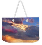 Cloudscape Sunset Touch Of Blue Weekender Tote Bag