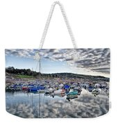 Cloudy Morning - Lyme Regis Harbour Weekender Tote Bag