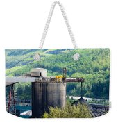 Coal Mine Electrical Energy Power Plant In Nature Weekender Tote Bag