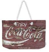 Coca Cola Pink Grunge Sign Weekender Tote Bag