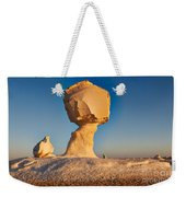 Cock And Mushroom Formation In White Desert Weekender Tote Bag