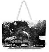 Coils Of Thick Plastic Pipe On A Carrier Wagon Weekender Tote Bag