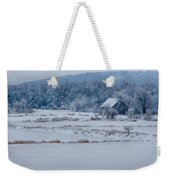 Cold Blue Snow Weekender Tote Bag