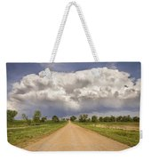 Colorado Country Road Stormin Skies Weekender Tote Bag