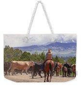 Colorado Cowboy Cattle Drive Weekender Tote Bag