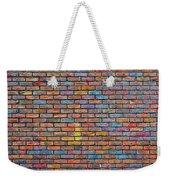 Colorful Brick Wall Texture Weekender Tote Bag