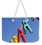 Colorful Clothes Pins Weekender Tote Bag by Elena Elisseeva
