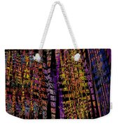 Colorful Computer Generated Abstract Fractal Flame Weekender Tote Bag by Keith Webber Jr