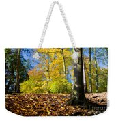 Colorful Fall Autumn Park Weekender Tote Bag
