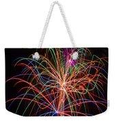 Colorful Fireworks Weekender Tote Bag